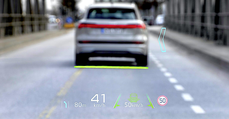 Audi AR HUD display