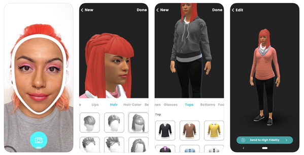 high fidelity personalized 3D avatar