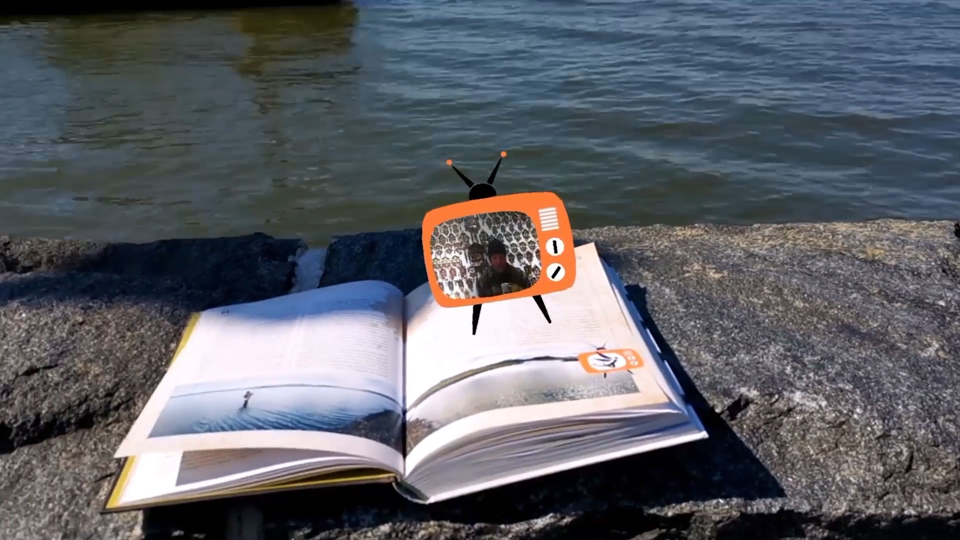 Nonfiction literature enhanced with AR