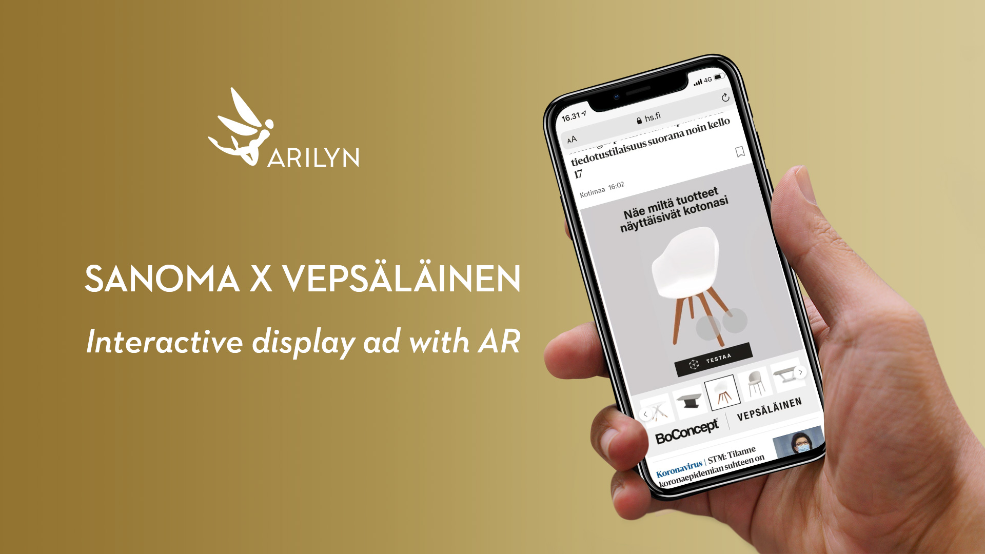 A new form of display ads arises - Sanoma x Vepsäläinen AR ad