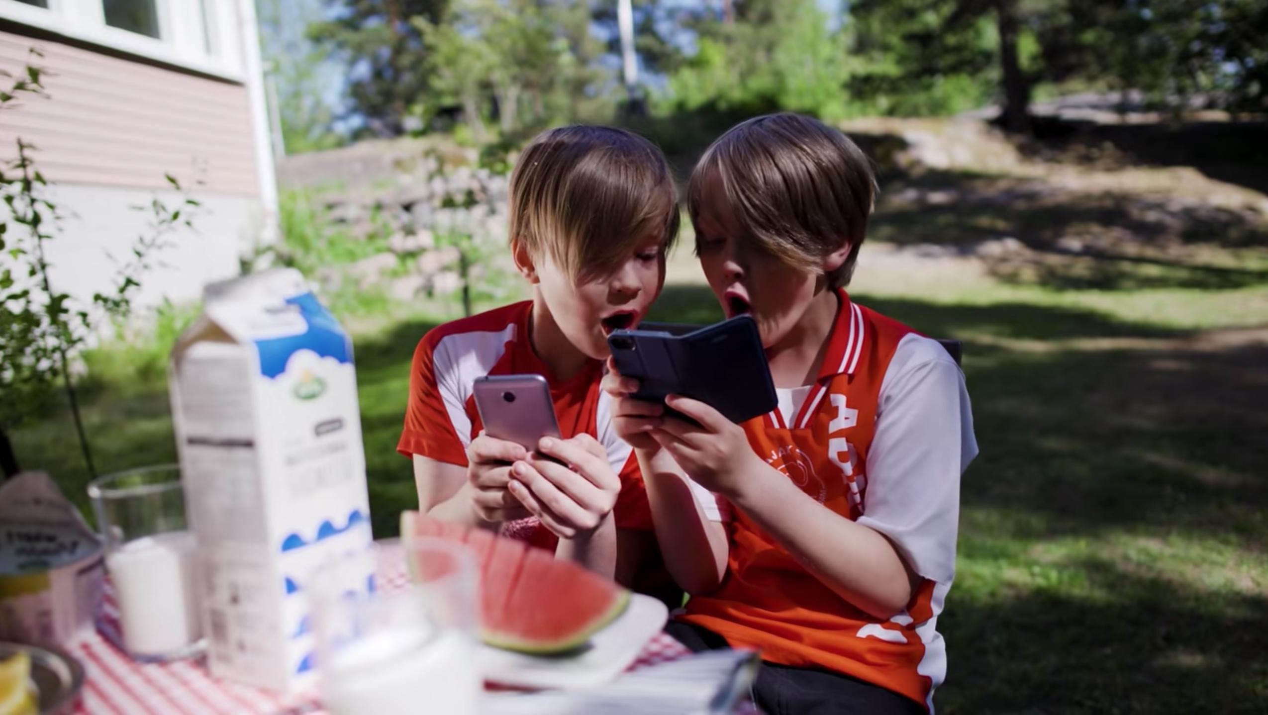 Football in a milk carton