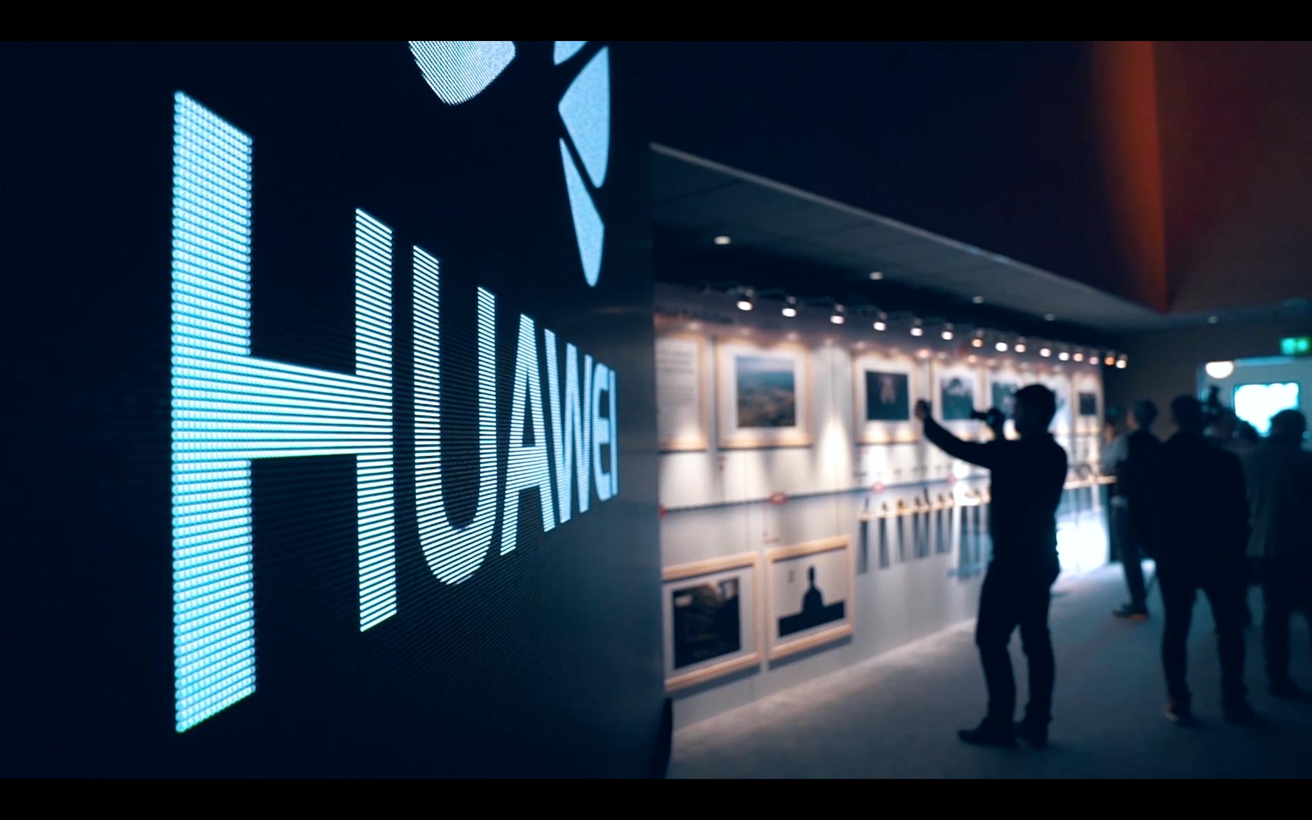 AR enhanced Huawei event