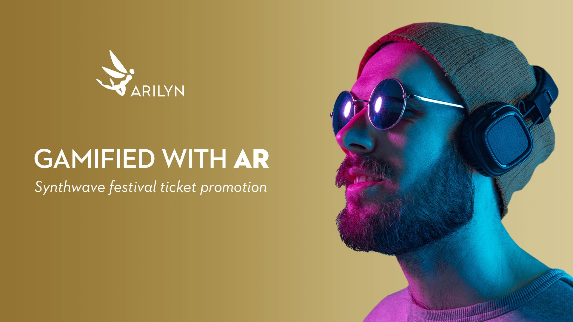 Helsinki Synth City Festival's ticket promotion gamified with AR